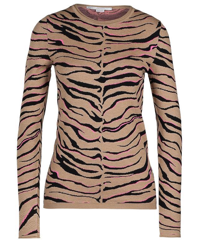 Pullover aus Wollmix mit Zebramuster STELLA MCCARTNEY