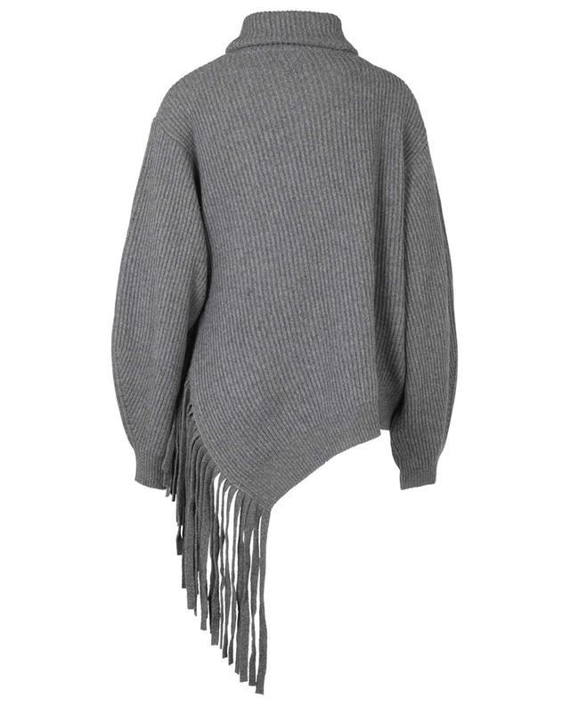 Pull à col roulé en cachemire et laine avec franges STELLA MCCARTNEY