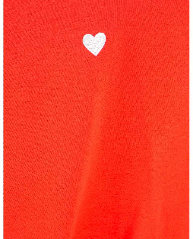 T-shirt en coton brodé coeur STELLA MCCARTNEY