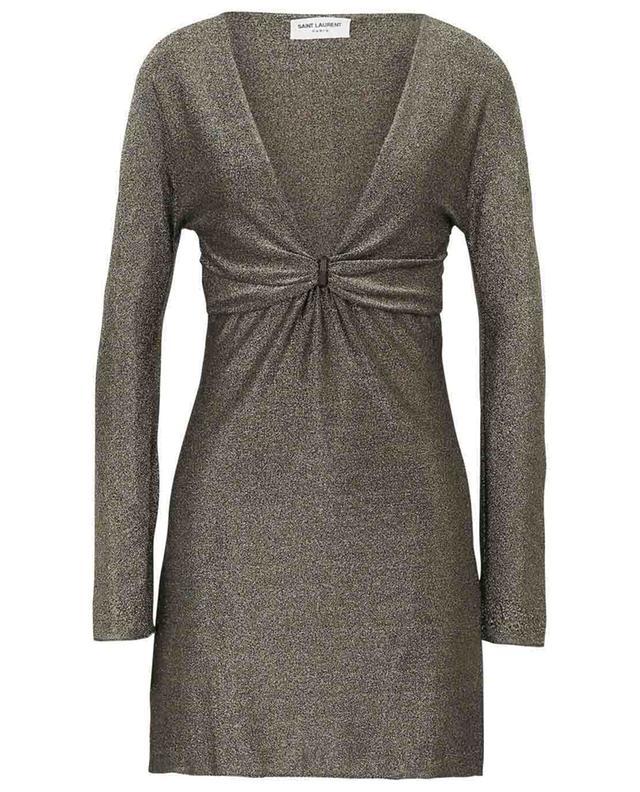 Robe courte en Lurex doré SAINT LAURENT PARIS