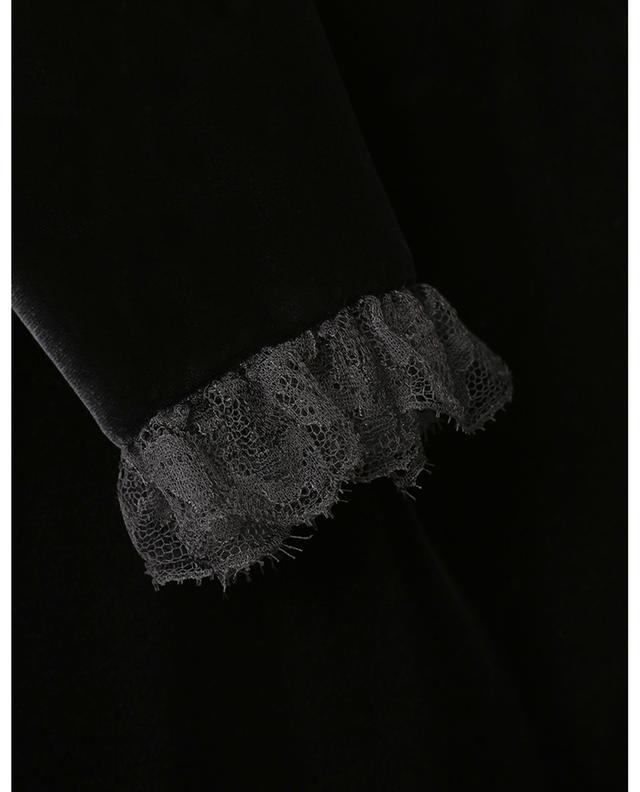 Robe portefeuille en viscose et cupro avec volants SAINT LAURENT PARIS