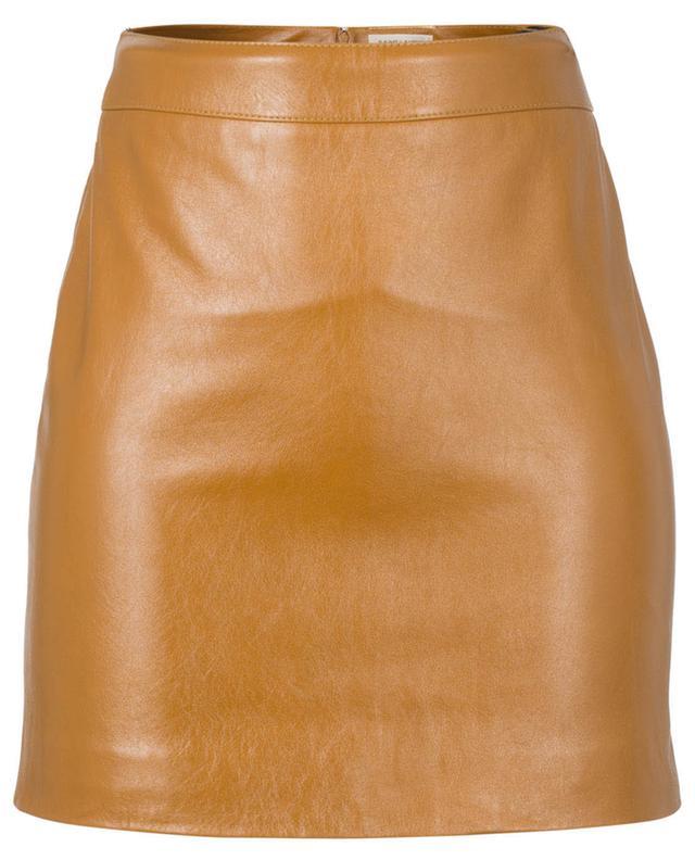 Mini leather skirt SAINT LAURENT PARIS