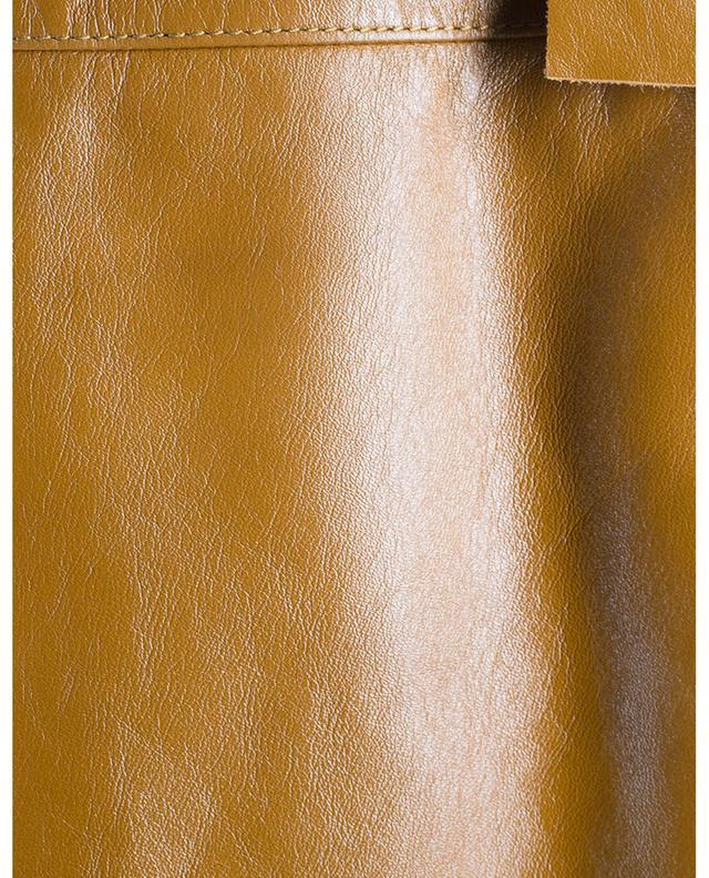 Minijupe en cuir SAINT LAURENT PARIS