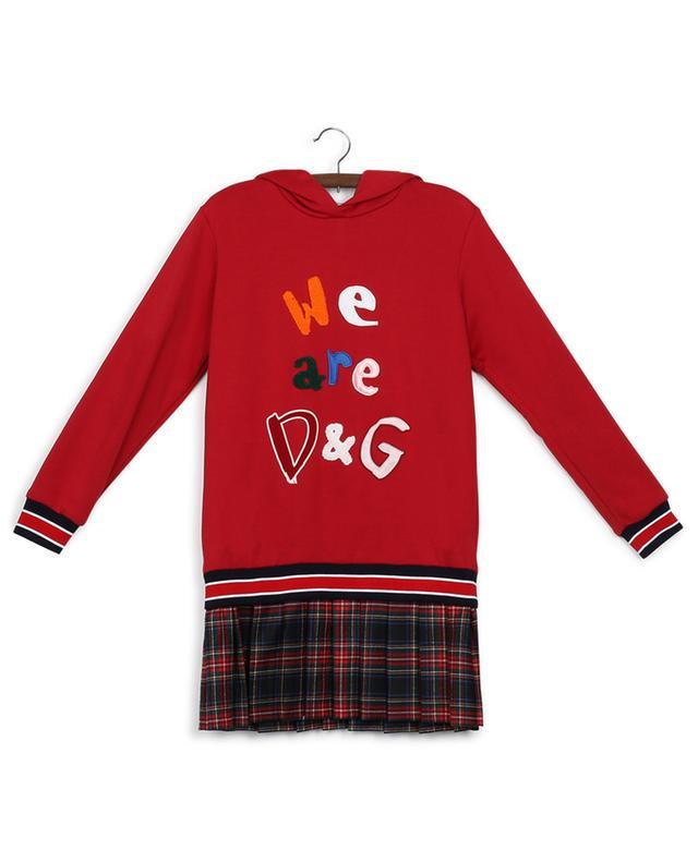 Back To School mini sweatshirt dress DOLCE & GABBANA