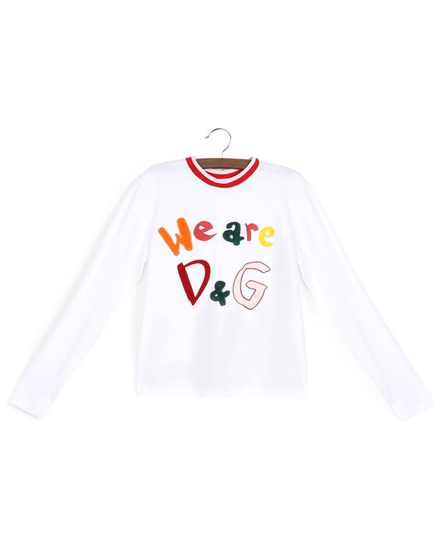 T-shirt à manches longues en coton We are D&G DOLCE & GABBANA