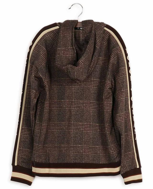 Sweat-shirt à capuche en coton imprimé carreaux DOLCE & GABBANA