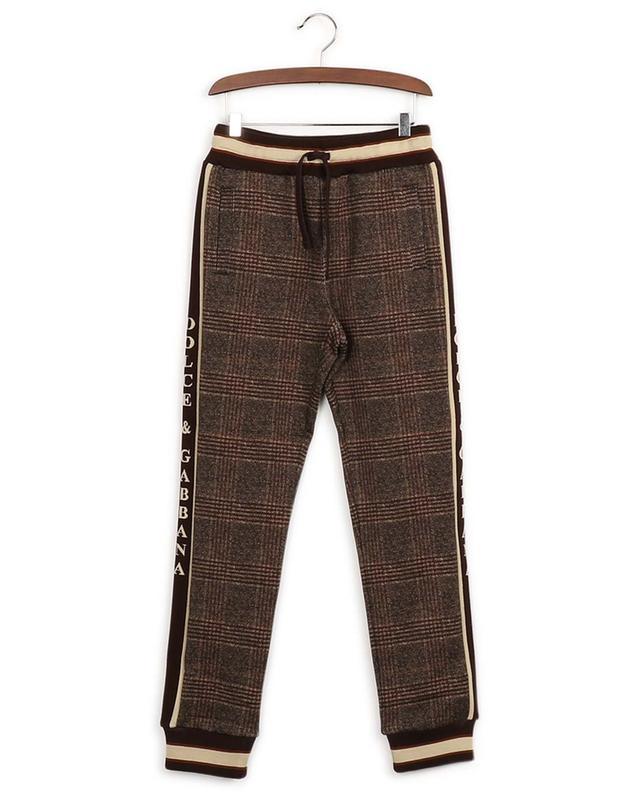 Cotton check print trousers DOLCE & GABBANA