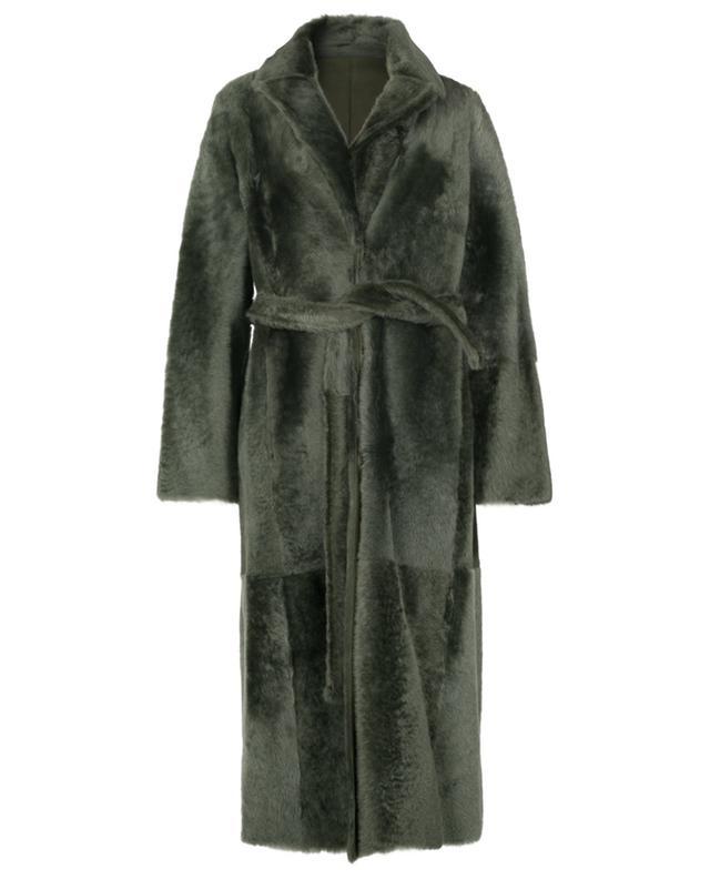 Manteau réversible en peau lainée d'agneau YVES SALOMON
