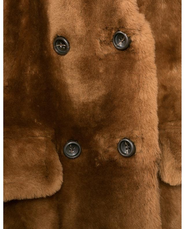 Manteau à boutonnière double en peau lainée YVES SALOMON