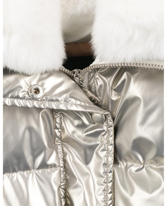 Doudoune boxy métallisée ornée de fourrure de lapin YVES SALOMON