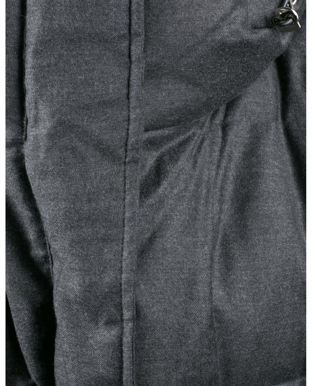 Doudoune en laine et soie ornée de zibeline YVES SALOMON