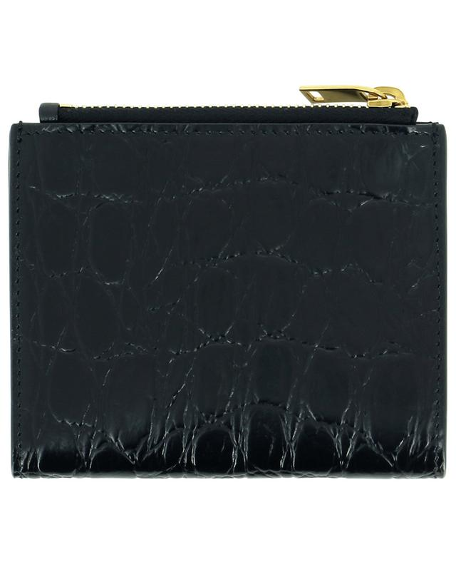 Petit porte-cartes effet croco YSL SAINT LAURENT PARIS