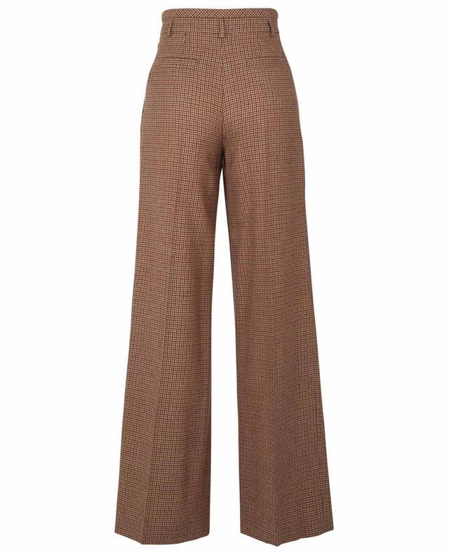 Pantalon à pinces en laine vierge motifs pied-de-poule CHLOE