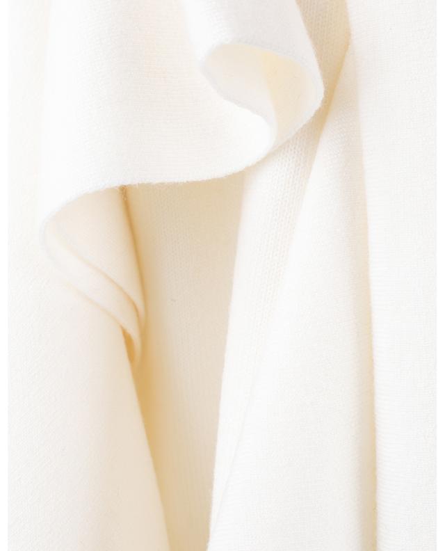Pull à manches courtes en laine à volants CHLOE