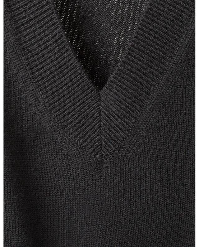 Robe longue en laine à volants CHLOE
