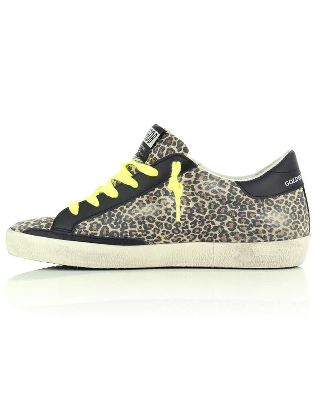 Superstar low-top leo print suede sneakers with light suede star GOLDEN GOOSE