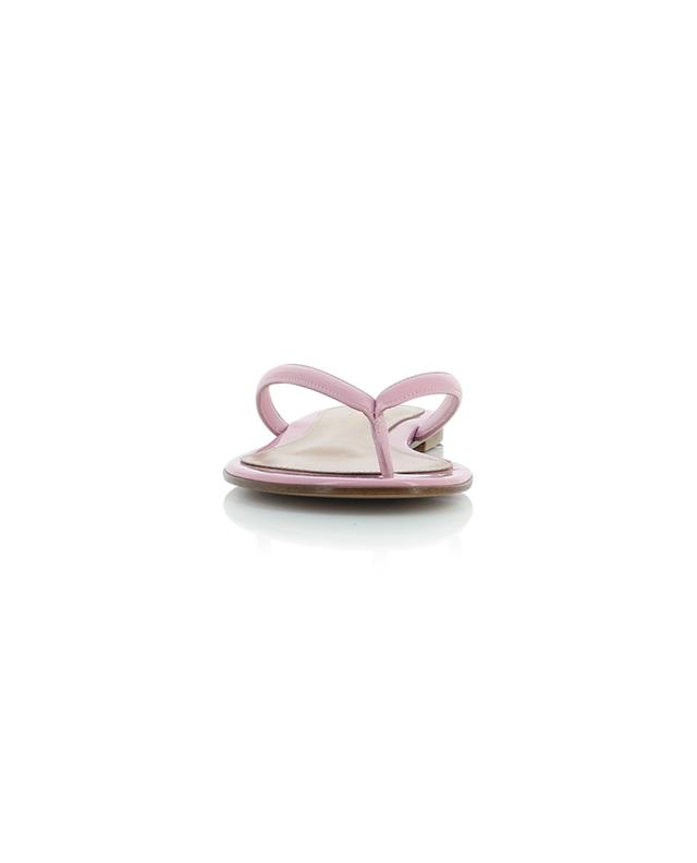 Calypso patent leather flat sandals GIANVITO ROSSI