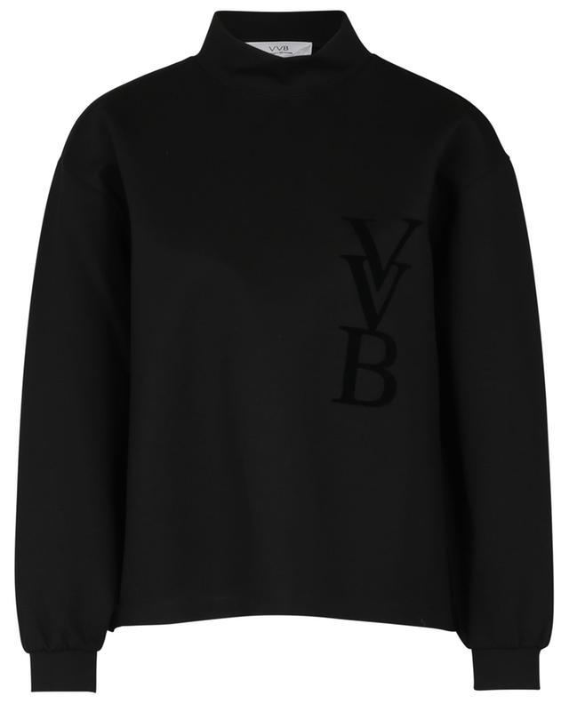 Sweat-shirt boxy à col montant effet néoprène monogrammé VICTORIA VICTORIA BECKHAM