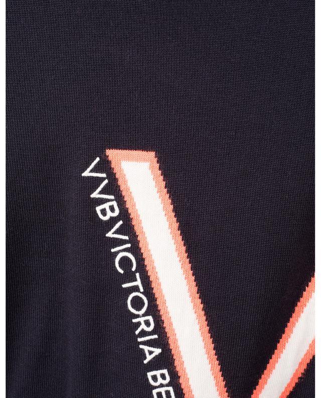 Pull fin embelli d'une intarsia VVB Logo VICTORIA VICTORIA BECKHAM