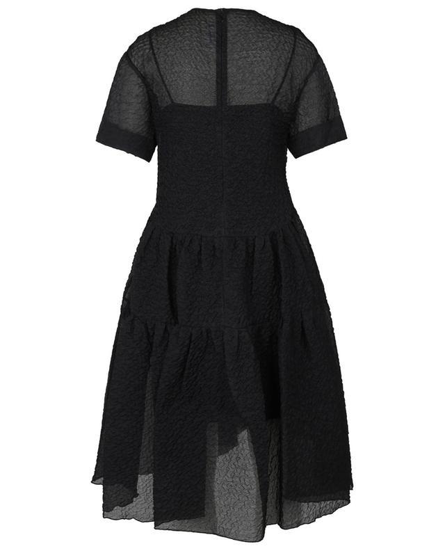 Robe trapèze midi oversize en mousseline texturée Exaggerated Cocoon VICTORIA VICTORIA BECKHAM