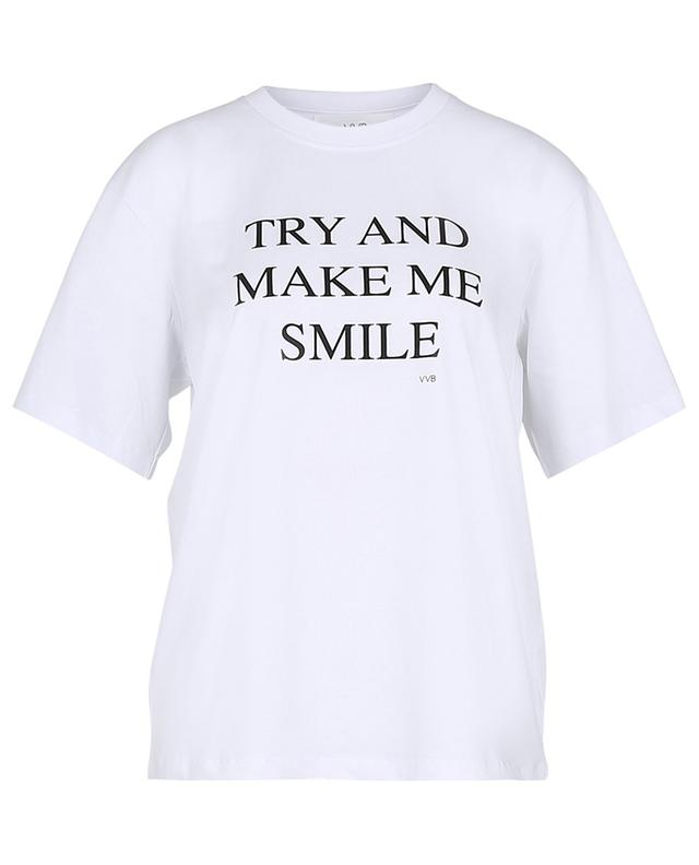 T-shirt en coton Try And Make Me Smile VICTORIA VICTORIA BECKHAM