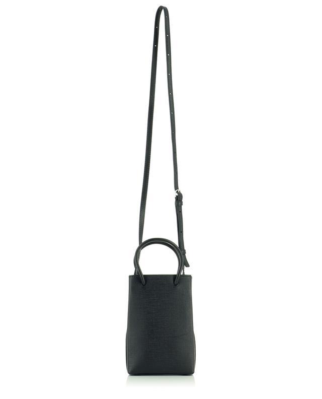 Shopping Phone Holder mini shoulder bag in textured leather BALENCIAGA