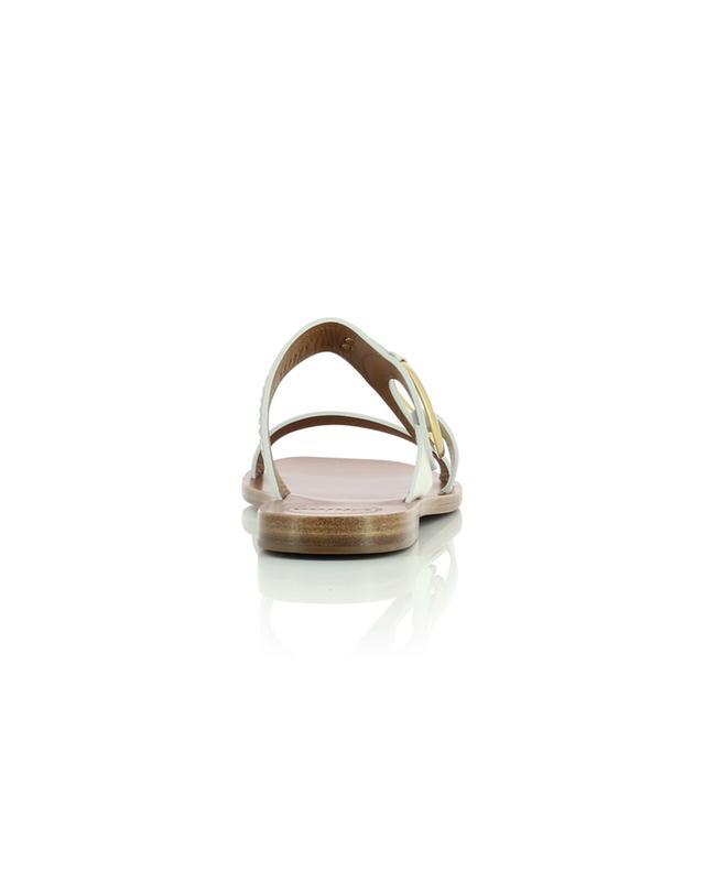 Mules plates ouvertes en cuir détail anneau Demi CHLOE
