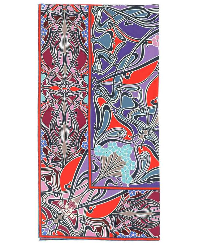 Carré de soie imprimé Art Nouveau New Ianthe LIBERTY LONDON