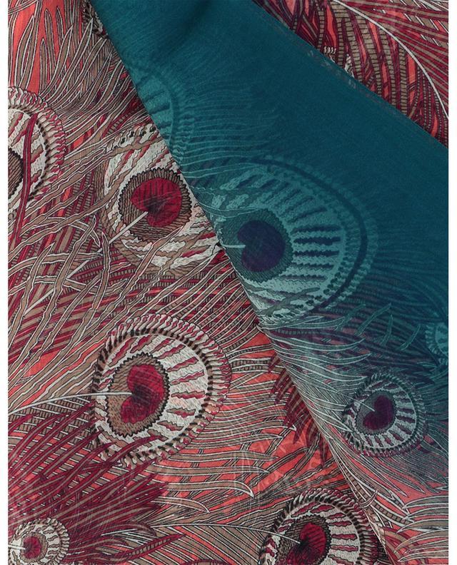 Écharpe en mousseline imprimée plumes de paon Hera LIBERTY LONDON