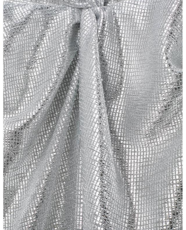Robe nouée ornée de détails en lurex Stella GALVAN LONDON