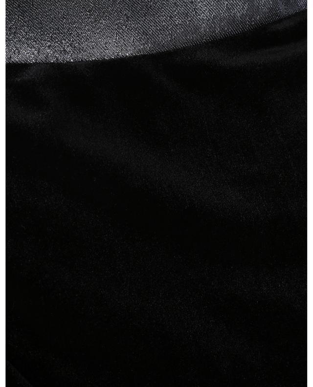 Robe sans bretelles en velours et lurex Frosted GALVAN LONDON