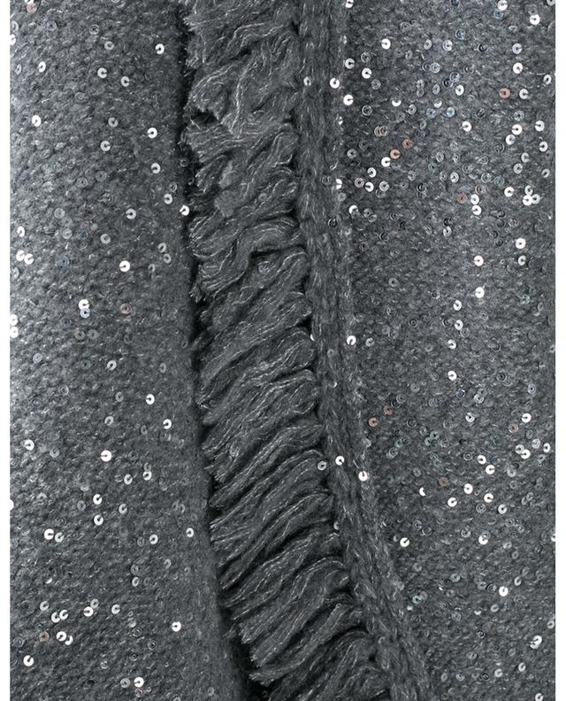 Cardigan en laine vierge et soie à sequins Stardust ALANUI