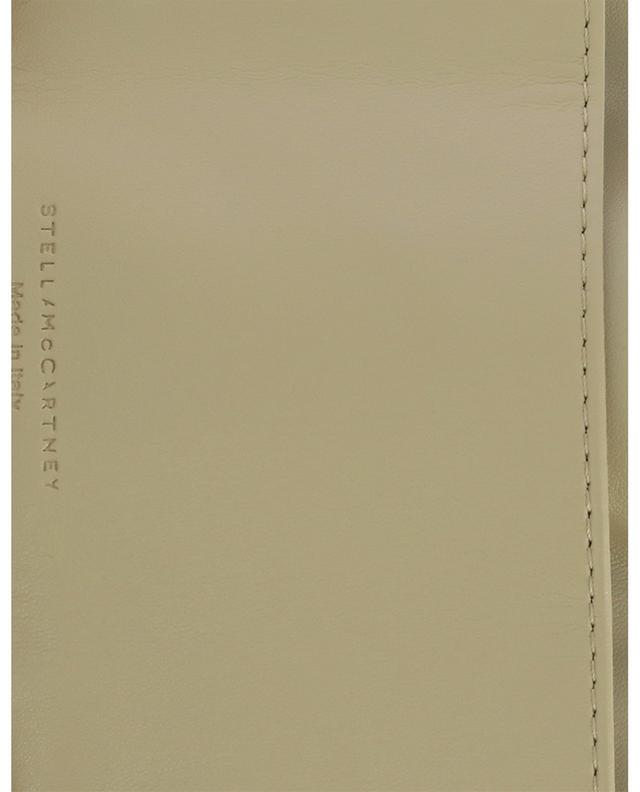 Portefeuille en daim synthétique texturé doré Falabella Mini STELLA MCCARTNEY