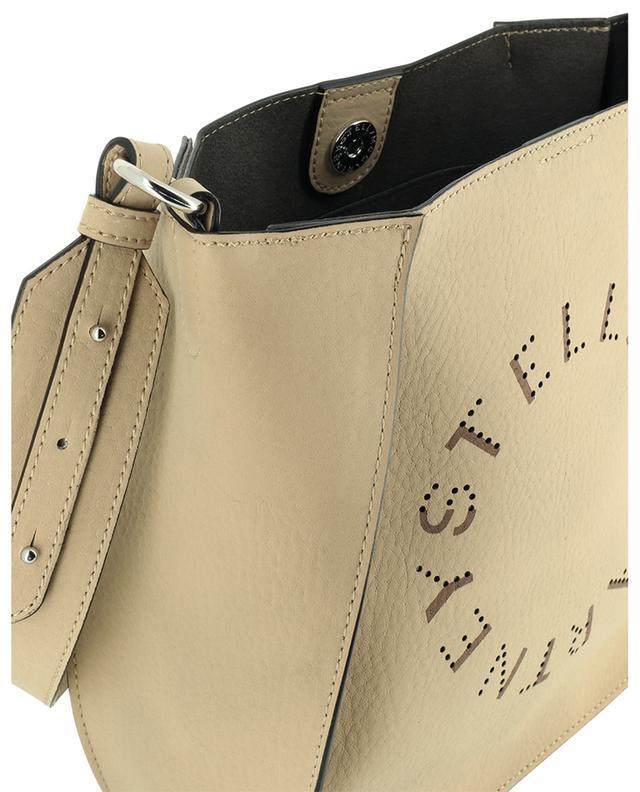 Sac porté épaule en cuir grainé synthétique Stella Logo Mini STELLA MCCARTNEY