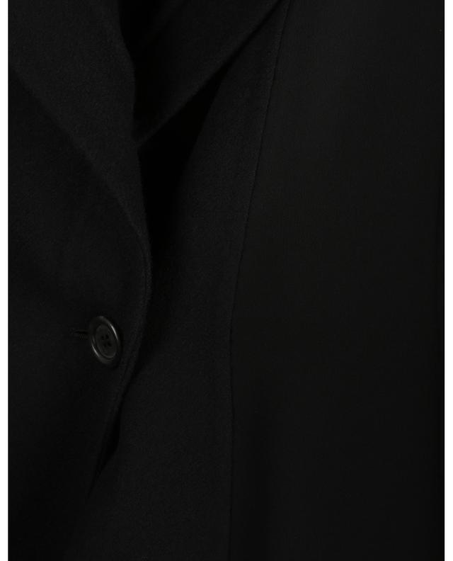 Manteau à boutonnière double détail lien en cuir VALENTINO