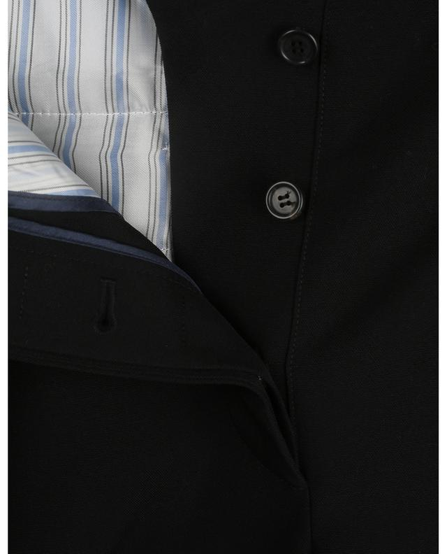 Virgin wool wide-leg waistband tuck trousers VALENTINO
