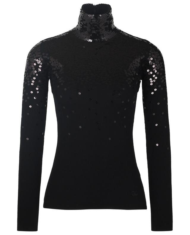 Wool sheath jumper with sequins VALENTINO