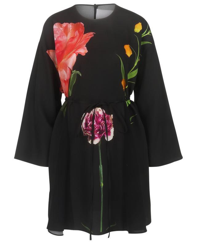 Flowersity Peony printed short cady dress VALENTINO