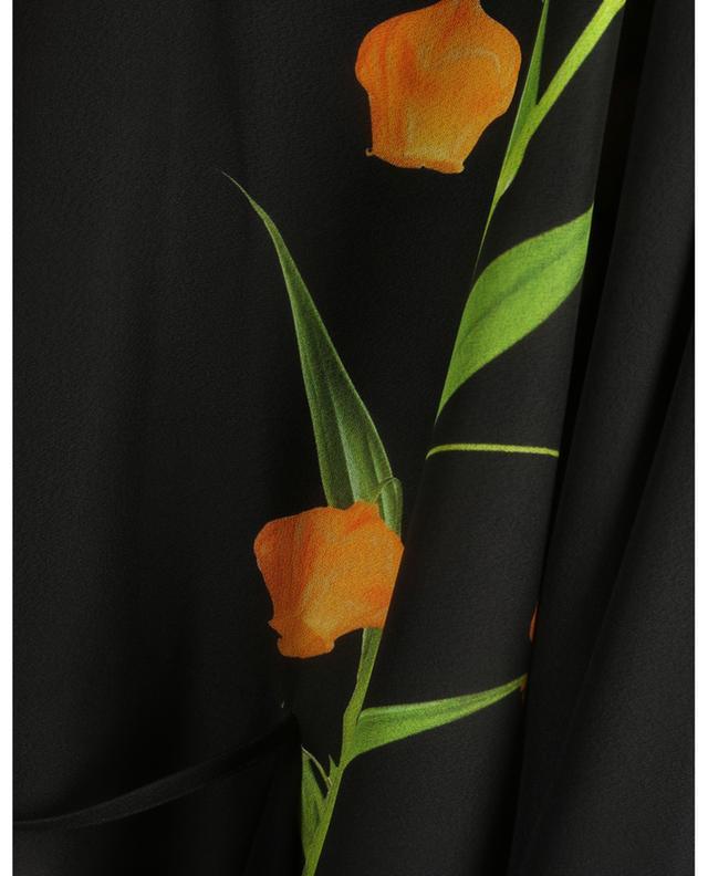 Robe courte imprimée en cady Flowersity Peony VALENTINO