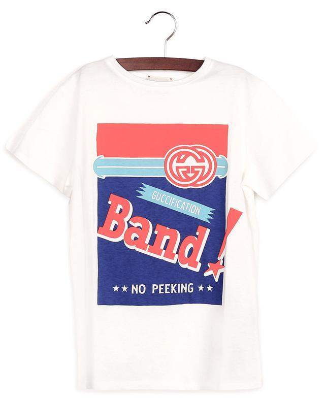 T-Shirt à manches courtes imprimé Gucci Band GUCCI