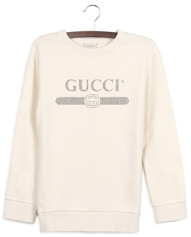 Sweat-shirt oversize à col rond imprimé Gucci Vintage Logo GUCCI