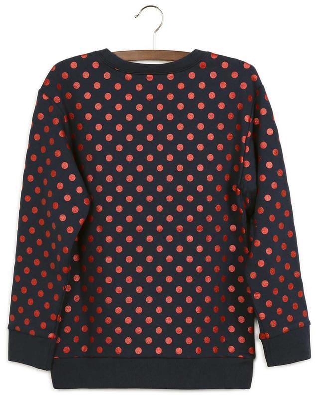Sweat-shirt à col rond imprimé pois pailletés Gucci Vintage GUCCI