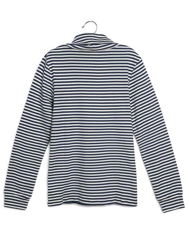 T-shirt rayé à manches longues et col roulé imprimé Logo GUCCI