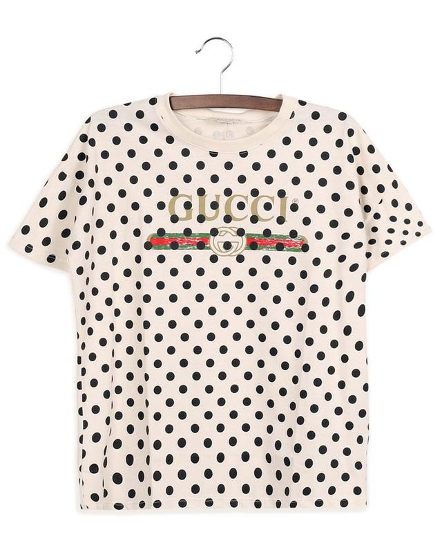 T-shirt à manches courtes imprimé pois Gucci Vintage GUCCI