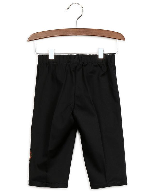 Pantalon bébé en gabardine brodé bande latérale Interlocking G GUCCI