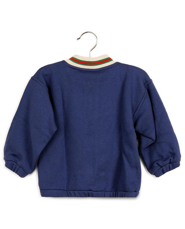 Sweat-shirt zippé bébé embelli Web GUCCI