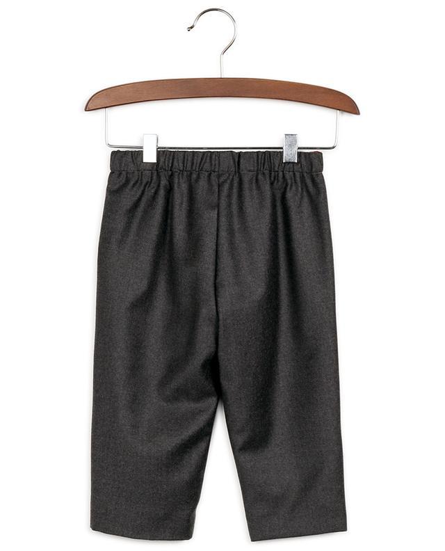 Pantalon bébé en flanelle brodé Web GUCCI