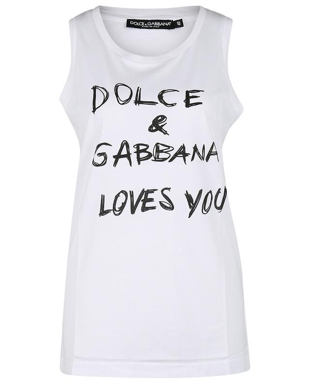 Débardeur en jersey imprimé D&G Loves You DOLCE & GABBANA