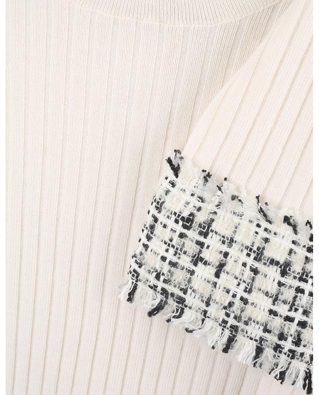 Pull chaussette en laine à poignets en Tweed Raschel DOLCE & GABBANA