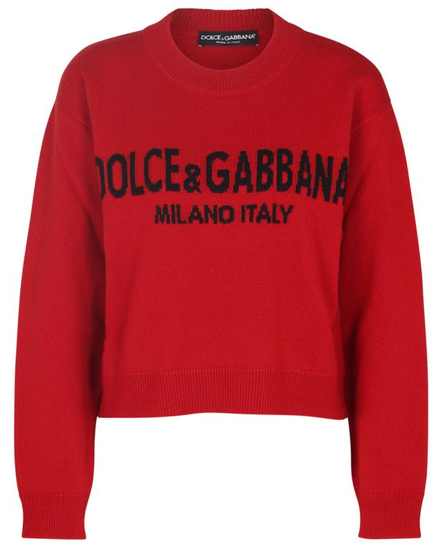 Pull boxy en cachemire Logo Intarsia DOLCE & GABBANA